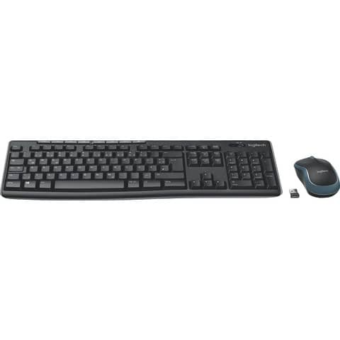Tastatur + Maus MK270 Wireless Optisch LOGITECH 920-004511 Produktbild