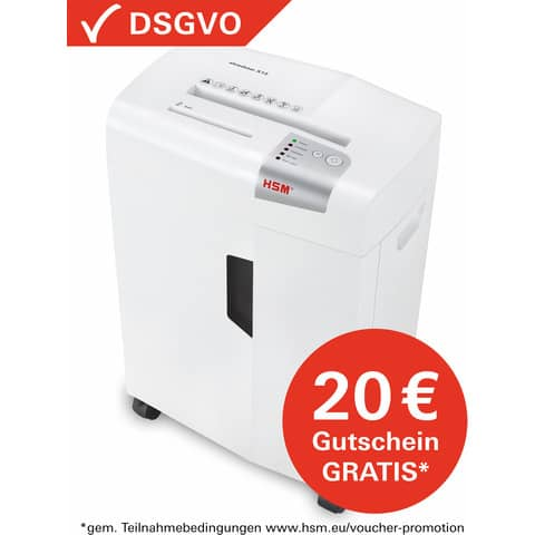 Aktenvernichter Shredstar X13 weiß HSM 1057121 4x37mm Produktbild Einzelbild 3 XL