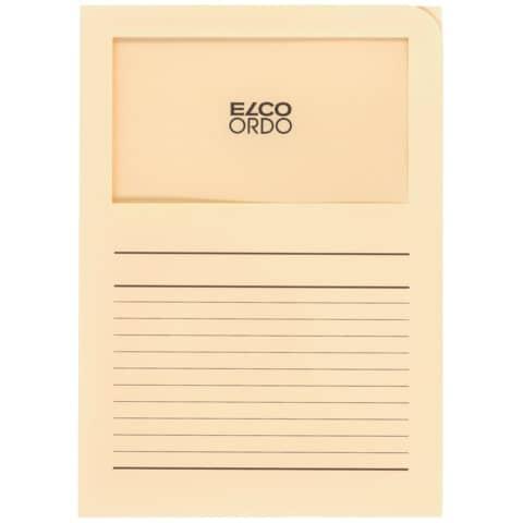 Sichtmappe Ordo A4 120g hellchamois ELCO 29489.41 Classico Papier 100 Stück Produktbild