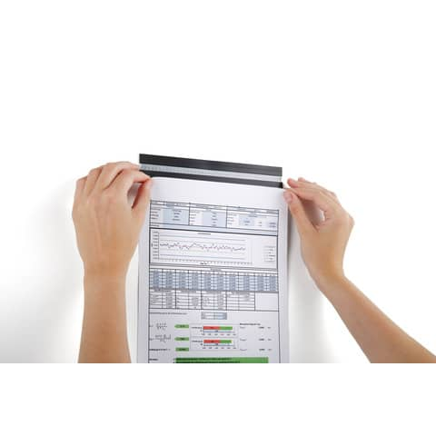 Magnetleiste DURAFIX RAIL 210mm silber DURABLE 4706 23 5ST Produktbild Produktabbildung aufbereitet 1 XL