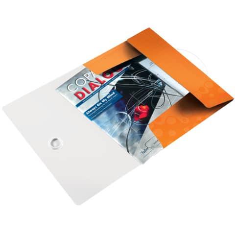 Gummizugmappe A4 orange metall LEITZ 4599-00-44  Wow PP Produktbild Einzelbild 2 XL