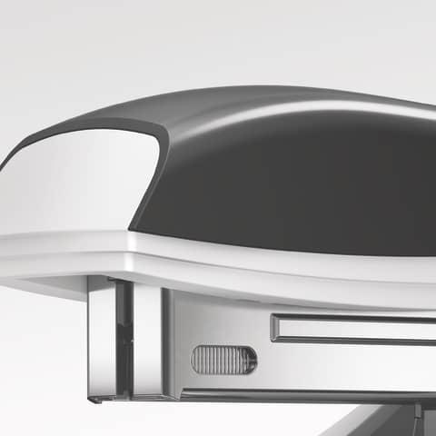 Heftgerät metallic violett LEITZ 5502-10-62 NeXXt Produktbild Anwendungsdarstellung XL