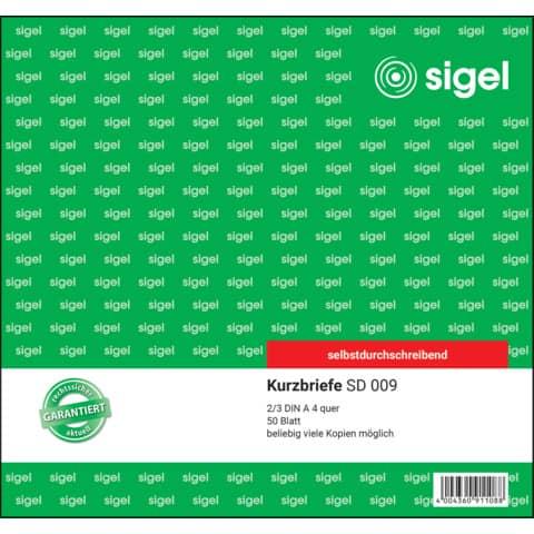 Kurzbrief 2/3 A4 50BL SIGEL SD009 50Bl/SD Produktbild Einzelbild 2 XL